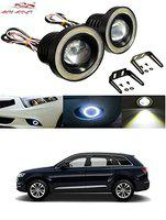 Auto Addict Car LED Fog Lights 3.5 High Power Led Projector Lamps Cob with White Angel Lights Eye Ring for Audi Q7
