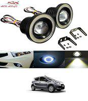 Auto Addict Car LED Fog Lights 3.5 High Power Led Projector Lamps Cob with White Angel Lights Eye Ring for Maruti Suzuki A-Star