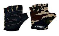 Tima Camo New Sports Gloves for Weight Training, Power-Lifting, Biking, Cycling Weights Lifting Gloves Protect Your Hands & Improve Your Grip Weightlifting Grips (Gray) (Large)