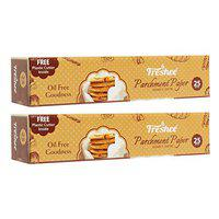 Freshee 25 Meter Parchment Paper Roll, Idle for Baking and Cooking, Freezer & Microwave Safe Butter Paper for Food - Pack of 2
