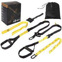 FITSY Complete Body Exercise Suspension Trainer Kit for Resistance Home Gym Fitness Training. (AR3207-NW)
