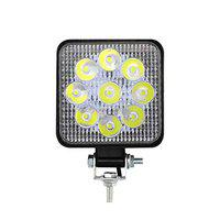 Casago CS9FLS1 9 LED Square Fog Light 4.5 Inch Waterproof Flood Spot Combo Beam Driving Strobe Lamp for Car, Bike and Motorcycles (27W, White and Yellow, 1 PC)