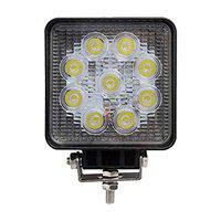 Motopack MTP9FS1 9 LED Fog Light Square 4.5 Inch Waterproof Spot Flood Combo Beam Driving Strobe Lamp for Car, Motorcycle and Bike (27W, White and Amber, 1 PC)