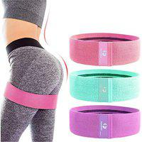 Fashnex Resistance Band for Workout for Men and Women with Exercise Bands Workout Guide, Mini Loop Resistant Band for Toning Booty Hips Glutes Thighs Legs Abs at Home or Outdoors.