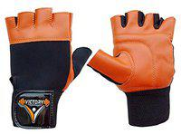 Victory Weight Lifting Gym Glove (Made in India) for Training,Exercise and Gym # Man,Woman # Orange -102