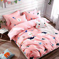 Being Handloom Premium Cotton Double Bed Cartoon Bedsheet with 2 Pillow Cover ( Bedsheet Size 90x100 inches, Pillow Size 46x68 Cms)