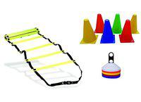 APG 6 Inch Cones Pack 6,10 Space Markers and 4 Meter Ladder Agility Combos