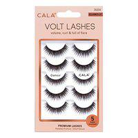 Cala Colour Effect Fabulous Natural Glamour Soft Reusable Daily Beauty Makeup Extension Demi Wispies False Eyelash For Girl, Women & Professionals -5 Pair Packet - Glamour