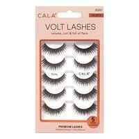 Cala Colour Effect Fabulous Natural Glamour Soft Reusable Daily Beauty Makeup Extension Demi Wispies False Eyelash For Girl, Women & Professionals -5 Pair Packet - Flirty