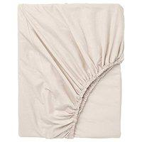 Ikea Aerglo Cotton Fitted Bed Sheet (Beige, 80x200 cm/32x79)