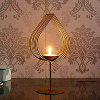 Webelkart Decorative Golden Eye Wall Sconce Candle Holder with Beautiful Glass for Home Decoration, for Home Room Bedroom Lights Decoration | Made in India Products - Free Tea Light Candles