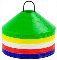 L'AVENIR 40Pcs. Field Space Markers/Saucer Cone Markers for Football/Training/Speed/Stamina - Multi-Color