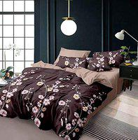 Style Your Home 100% Cotton King Size 108X108 Bedsheet with 2 Large Size Pillow Cover (Multicolor)