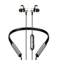 Intex Musique Power Bluetooth Wireless in Ear Neckband Earphone with 24 Hours Playtime, IPX5 Rated, Built in Mic (Black)