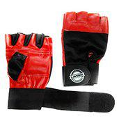 L'AVENIR Fitness Leather Gym Gloves - RED