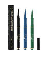 Swiss Beauty Jet Bold Felt Tip Smudge Proof Long-Lasting and Waterproof 18 Hours Stay Eyeliner (pack of 3)