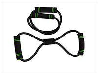 BOSS SPOCCO Latex Figure 8 Resistance Band Heavy, Black | Latex Figure 8 Yoga Fitness Workout Toning Resistance Tube Exercise Band for Man & Women