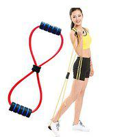 SPOCCO Chest Expander Rope Workout Pulling Exerciser Fitness Exercise Tube Sports Yoga for Men and Women