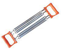 SPOCCO Fitness Chest Expander - Chest Expander Body Pull Stretcher Exerciser 4 Resistance Steel Spring Gym Training Equipment for Sports Training Home Outdoor Gym - 4 Spring