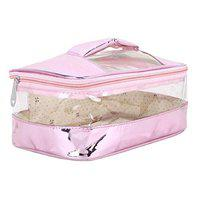 N A PURSE Women vanity box Cosmetic case for girls Ladies toiletry bag CC005 (PINK)