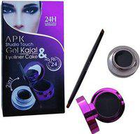 APK GEL KAJAL & EYELINER CAKE 2in1 (Black)