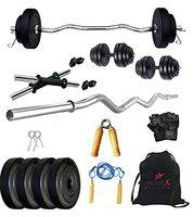 StarX PVC 12 Kg Home Gym Combo with 3 Feet Rod and Accessories