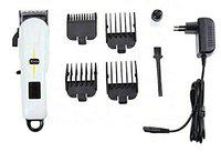 CETC ProGemei GM - 6132 Professional Rechargeable Cordless Beard Trimmer Hair Clippers Cutting Kit for Men, White