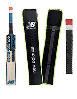 NB DC 590 English Willow Cricket Bat Short Handle Thick Edges Light Weight English Willow Cricket Bat Full Size with Padded Cover