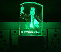 UKANI 3D Dr. Baba Saheb Ambedkar Design Night Lamp with 7 Color Changing Led Light (Size 3 Inch)
