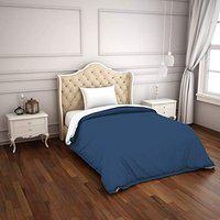 Spaces Hygro Navy Blue 300 Tc Cotton Single Duvet Cover