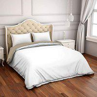 Spaces Hygro White 300 Tc Cotton Double Duvet Cover