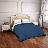 Spaces Hygro Navy Blue 300 Tc Cotton Double Duvet Cover_1041296