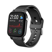 AQFIT W11 Smartwatch IP68 Waterproof Fitness Tracker | 1.4 Full Touch Screen Display | Upto 10 Days Battery Life | 4.2 Bluetooth | for Men and Women (Black)