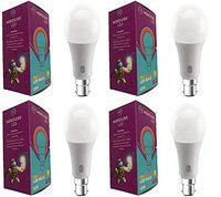 Nordusk 12W Colour Changing Bulb(TriColoured-Warm White,Natural White & Cool White) Pack of 4,B22