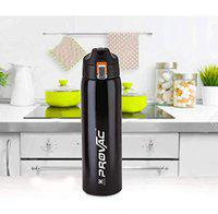 XSOURCE Stainless Steel Water Bottle with Hot & Cold Sipper Bottle (BLACK)