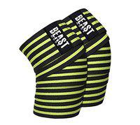 STEIGEN FITNESS Weight Lifting Knee Support Wraps for Squats,Gym, Weight Lifting, Cross fit, Gym Workout (Neon Green)