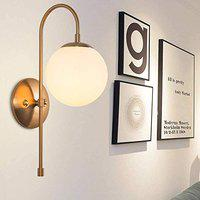 BrightLyt Classic Design Globe Shape Metal Wall Light/Wall Lamp/Wall Sconce/Wall Hanging Lamp Fixture for Bedroom or Living Room