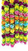 URVI Creation Set of 2 Multi Heavy Artificial Flowers Garlands for Diwali,Navratri,Festival Home,Tempe Wedding Decoretion
