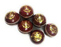 Set of 6 Davidson Leather Cricket Ball 2 Part by Forever Online Shopping