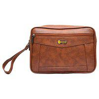Blowzy Bags Cash Pouch/Money Carrying Pouch/Travel Toiletry kit/Multipurpose Travel Pouch kit (Tan)