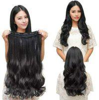Haveream Black Silky Soft Wavy,Curly Clip in Hair Extension For Women and Girls