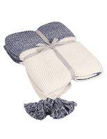 Pluchi Knit & Pearl Cotton Knitted Throw Blanket for Single Bed /Couch/Sofa/Living Room/Travelling Super Soft Comfort/ Caring/ Gift for Summer and Warm in Winter