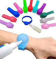 Confidence Adjustable Silicone Sanitizer Wristband With Empty Bottle For Girls And Boys Pack Of 1