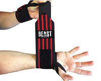STEIGEN FITNESS Wrist Support, Weight Lifting Wrist Band for Gym Workout,Wrist Wrap, Cross fit, Gym Workout (Red-2)