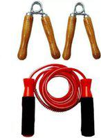 Gawin Ball Bearing Rope & Wooden Hand Grip Gym & Fitness Kit