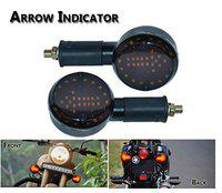 Autosun Arrow LED Side Indicator for Royal Enfield Bullet 350 (Red and Orange) (for Royal Enfield Set 2)