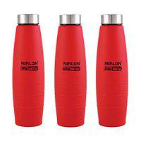 NIRLON BPA Free Water Bottle Pack of 03 Colour Water Bottle 1000 ML
