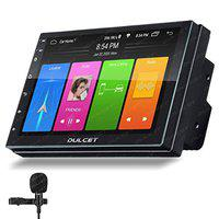 Dulcet DC-216AT 240W Universal Fit Double Din 7 inch Android 9.0 Car Stereo with 2GB RAM / 16 GB Internal Memory / Quad Core Processor / HD IPS Display / Capacitive Touch Screen / Gorilla Glass Protection & External Microphone that supports Split Screen / Wifi / GPS Navigation / Bluetooth / Dual USB Input / FM Radio / Wireless Android & iOS Screen Mirroring DC-216AT 2GB/16GB
