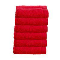 Juvenile Cotton Ultra Soft Bath Towel Red 6Pc Full Size for Men and Women