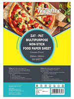 Freshee Greaseproof Paper 500 Pre Cut Sheets Non-Stick Food Paper 220mm x 305mm, Multi-Purpose Organic Paper for Baking Food Wrapping